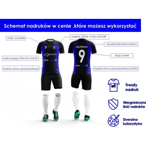 Stroje sportowe z nadrukiem - wzór 19 żółty