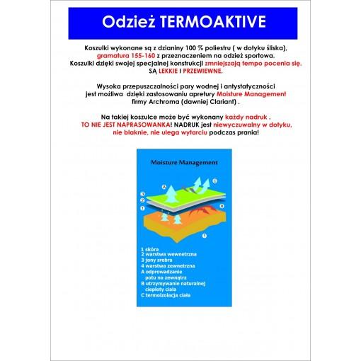 Koszulka sportowa z nadrukiem - wzór 27 seledyn