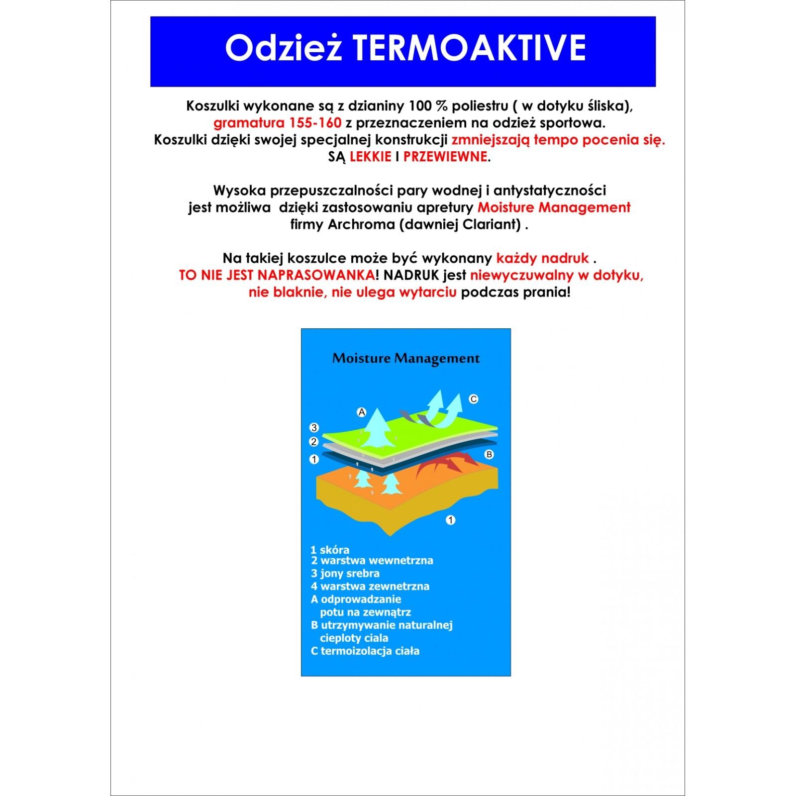 Koszulka sportowa z nadrukiem - wzór 27 czerwona
