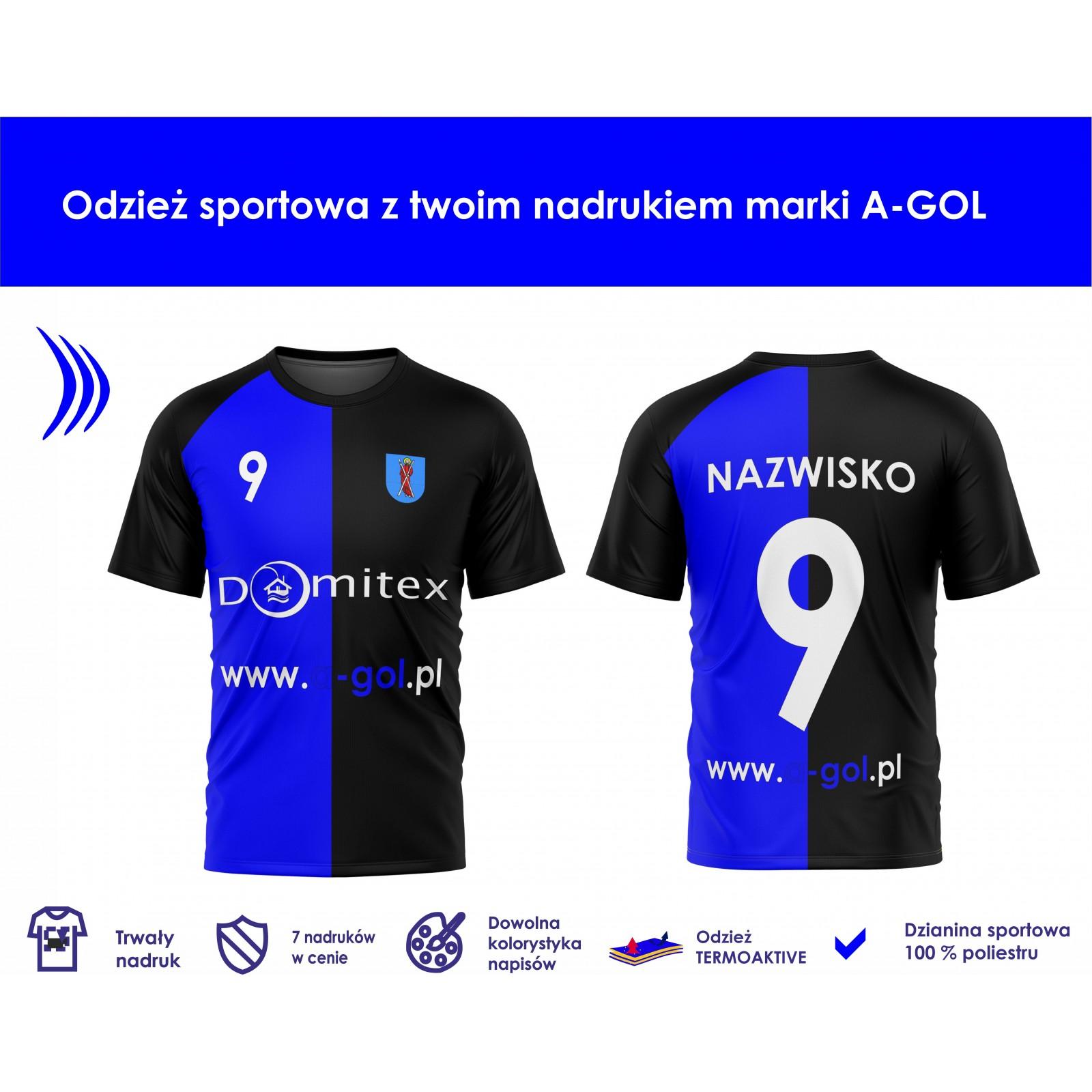 Koszulka sportowa z nadrukiem - wzór 28 czerwony