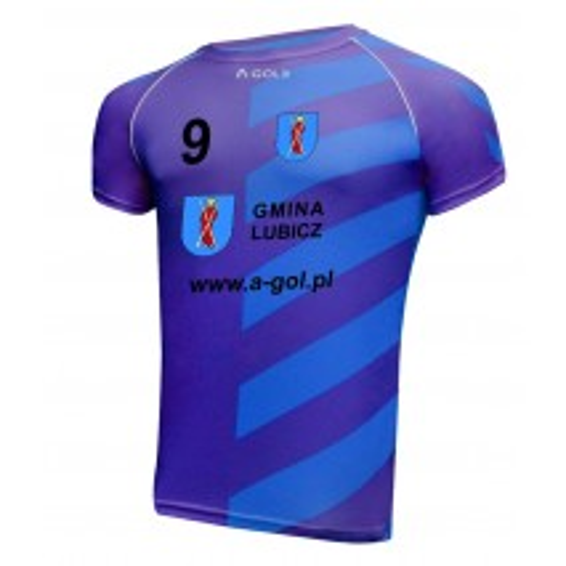 Koszulka sportowa z nadrukiem - wzór 41 WISŁA kolor niebieski
